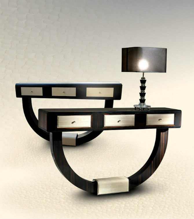 Contemporary Console Table R8 Macassar, by Taylor Llorent