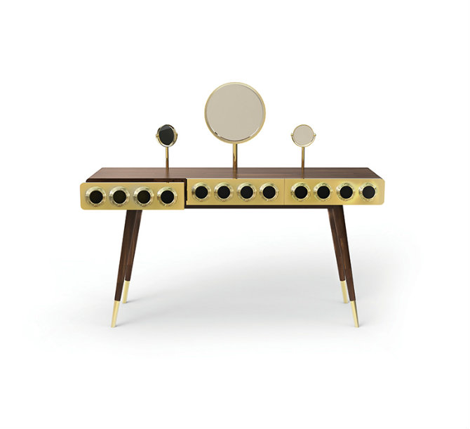 Gold Console Table by Essential Home