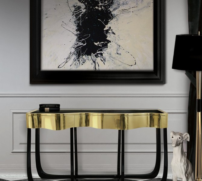 modern console tables Top 20 Modern Console Tables sinuous 1 670x600