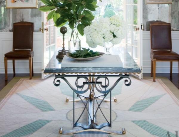 gorgeous console tables gorgeous console tables 10 Gorgeous Console Tables for A Summer Décor Blue metal console e1459269023427 600x460