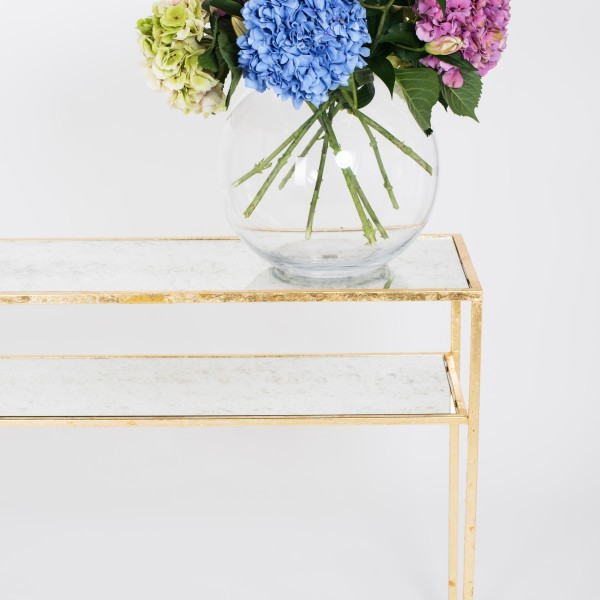 aged mirror console table 7 Inspiring Aged Mirror Console Table Designs ruthjoanna gazelle console table 600x600