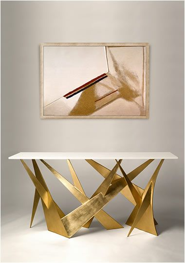 gold and white console table 10 Stunning Gold and White Console Table Designs whitecold andewwilliams