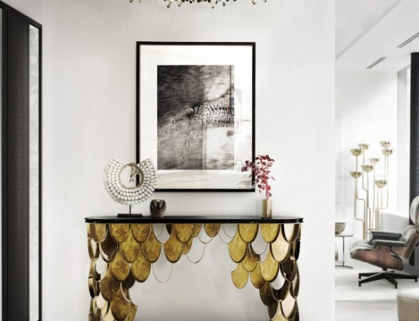koi console table Console Tables Inspired by Nature 10 Astonishing Console Tables Inspired by Nature koi brass console table contemporary design by brabbu 4 detail 600x460