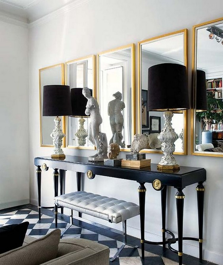 Get Inspired With These Modern Living Room Decorating Ideas: Black Modern Console Tables