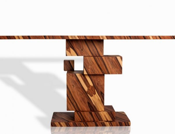 console table Incredible Wood Console Table From Alma Collection consoleamarist alma collection console table mirror furniture designboom 01 600x460