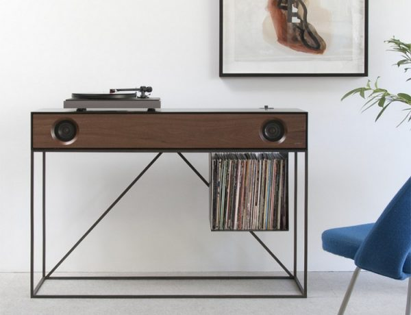 console table Symbol Stereo Console Table Has An Audio Component stereo SYMBOL Stereo Console SCT BlW Sq TT 1024x1024 600x460