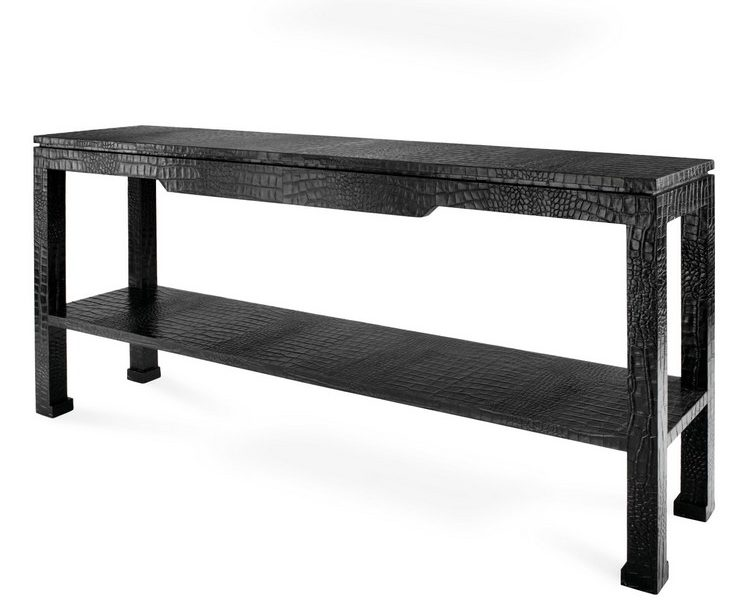Console Table Ideas Console Table Ideas adlerpreston console black 750x600
