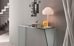 console table How To Decorate Your Home With a Glass Console Table console penrose glass console table 240x150