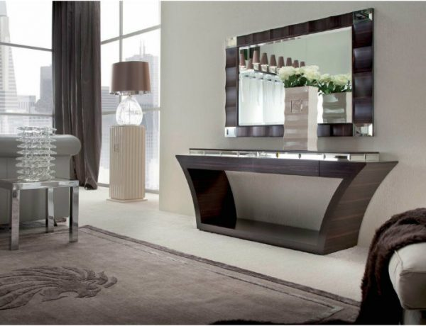 console tables Best Shelphed Console Tables for an Organized Space contemporary console table 600x460