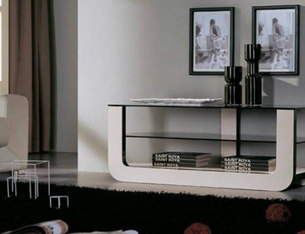 console tables Black and White Contemporary  Console Tables dddddd 600x460