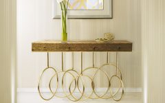 golden Stunning Golden Modern Console Tables feat 2 240x150