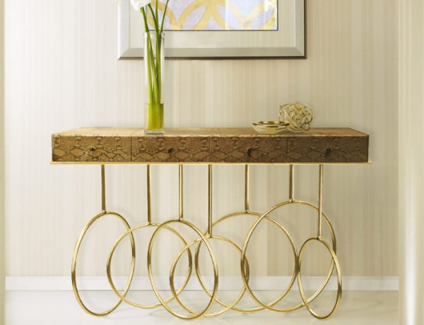 golden Stunning Golden Modern Console Tables feat 2 600x460