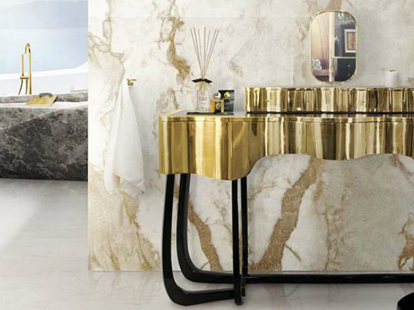 master bathroom Modern Console Tables for a Luxury Master Bathroom 000 5 600x449