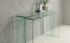 glass console tables Discover 5 Stunning Glass Console Tables glass console 240x150