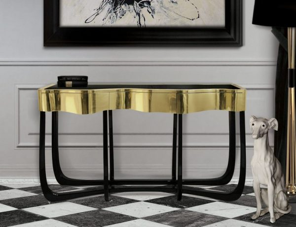 Console tables Top Black and Gold Console Tables for Your Interior Top Black and Gold Console Tables for Your Interior 15 600x460