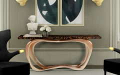 console tables Eye-Catching Console Tables That Fit Your Living Room And Entryway infinity console fff 240x150