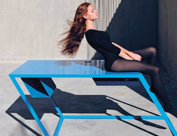 XYZ 60º Degree Console Tables By XYZ fffffffffffffff 600x460