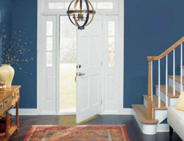 entryway Color Ideas for Your Modern Entryway blue3 600x460