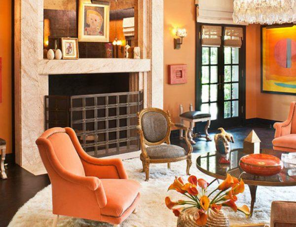 living room furniture Trendy Colors for Living Room Furniture orange 1 600x460