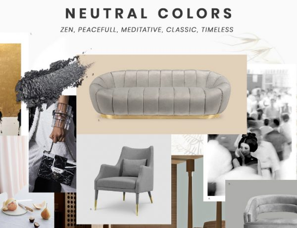 living room furniture Best Trends For Your Living Room Furniture moodboard trends 2019 neutral colors 2 600x460