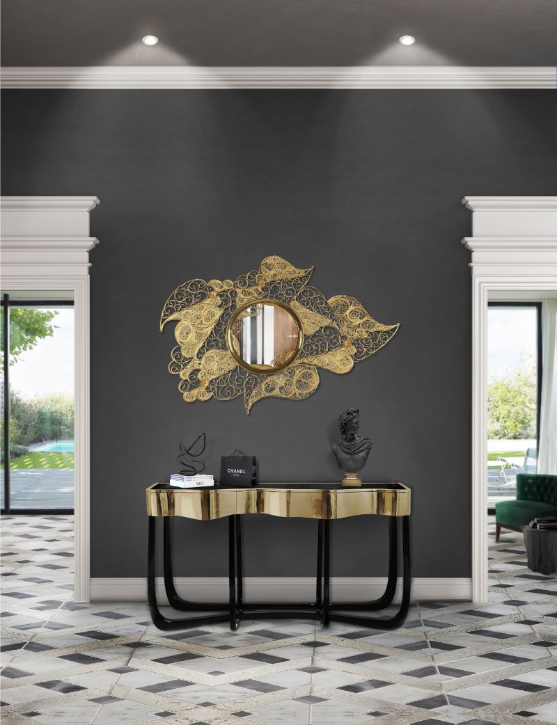 Gold Modern Console Tables for Your Entryway modern console tables Gold Modern Console Tables for Your Entryway Gold Modern Tables for Your Entryway 7