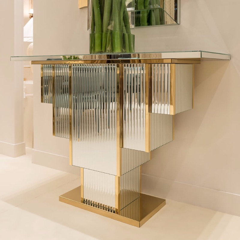 Glass Console Tables glass console tables Breathtaking Contemporary Glass Console Tables art deco
